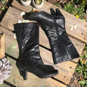 Gentle Soles O-When Boots Black Leather Mid Calf